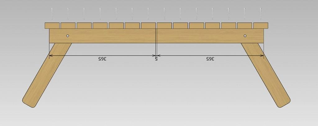 ローテーブル 天板組立