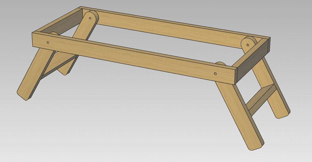 ローテーブル 枠と脚の組立