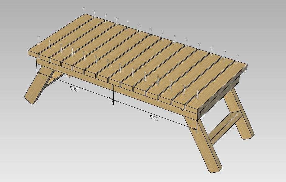 ローテーブル 天板組立2
