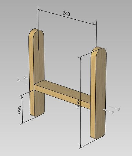 ローテーブル 脚 組立